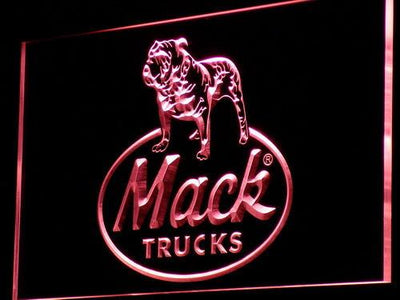Mack Old Logo LED Neon Sign - Red - SafeSpecial