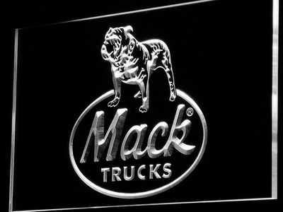 Mack Old Logo LED Neon Sign - White - SafeSpecial
