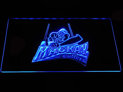 Mackay Cutters LED Neon Sign - Blue - SafeSpecial