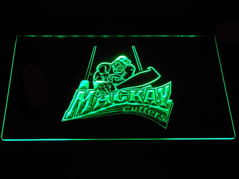 Image of Mackay Cutters LED Neon Sign - Green - SafeSpecial
