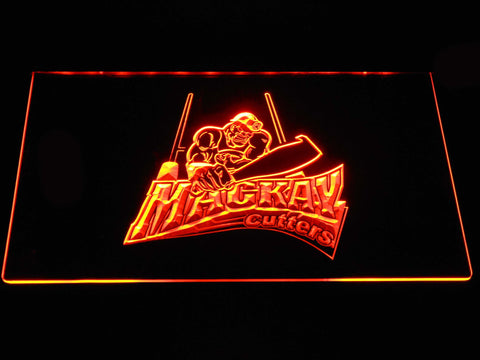 Image of Mackay Cutters LED Neon Sign - Orange - SafeSpecial