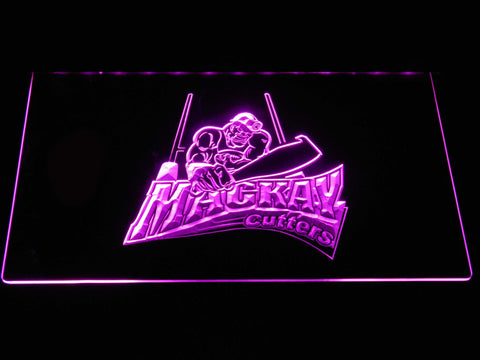 Image of Mackay Cutters LED Neon Sign - Purple - SafeSpecial