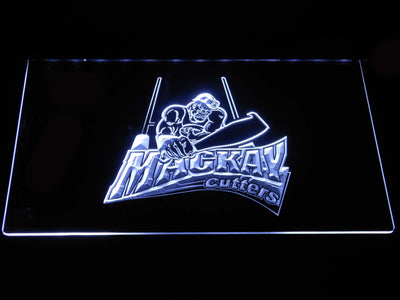 Mackay Cutters LED Neon Sign - White - SafeSpecial