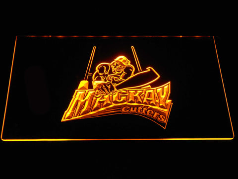 Image of Mackay Cutters LED Neon Sign - Yellow - SafeSpecial