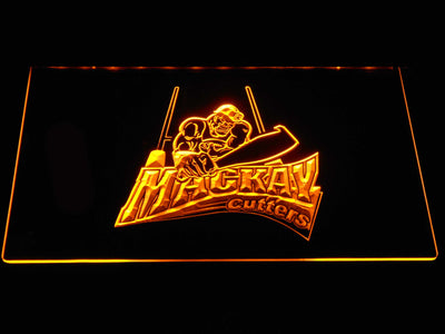 Mackay Cutters LED Neon Sign - Yellow - SafeSpecial