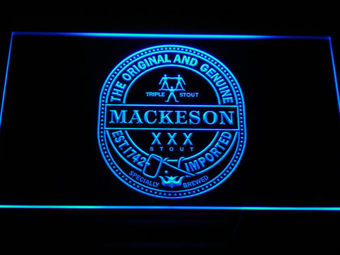 Mackeson Triple Stout LED Neon Sign - Blue - SafeSpecial