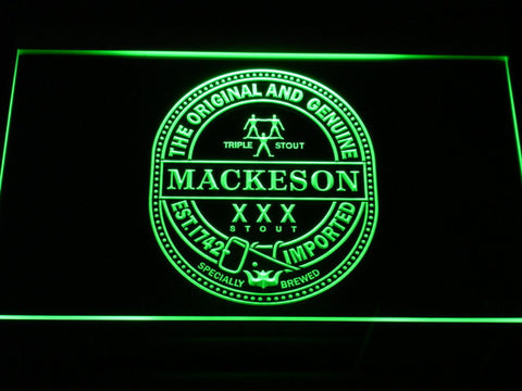 Mackeson Triple Stout LED Neon Sign - Green - SafeSpecial
