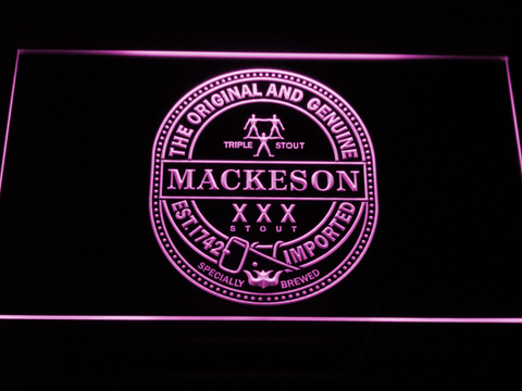 Mackeson Triple Stout LED Neon Sign - Purple - SafeSpecial