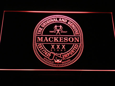 Mackeson Triple Stout LED Neon Sign - Red - SafeSpecial