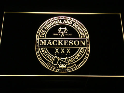 Mackeson Triple Stout LED Neon Sign - Yellow - SafeSpecial