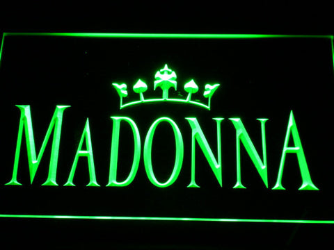 Image of Madonna LED Neon Sign - Green - SafeSpecial