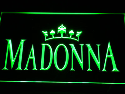 Madonna LED Neon Sign - Green - SafeSpecial