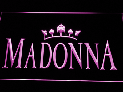 Madonna LED Neon Sign - Purple - SafeSpecial