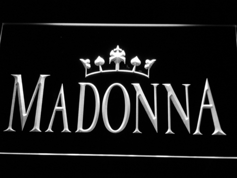Image of Madonna LED Neon Sign - White - SafeSpecial