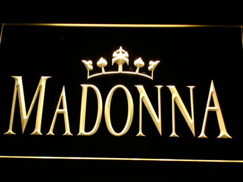 Image of Madonna LED Neon Sign - Yellow - SafeSpecial