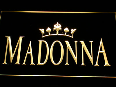 Madonna LED Neon Sign - Yellow - SafeSpecial