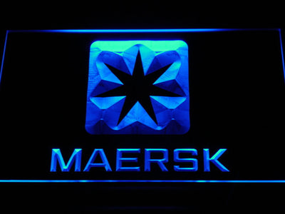 Maersk LED Neon Sign - Blue - SafeSpecial