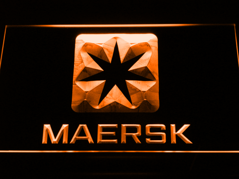 Image of Maersk LED Neon Sign - Orange - SafeSpecial