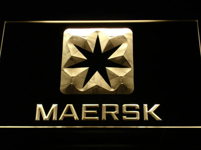 Maersk LED Neon Sign - Yellow - SafeSpecial