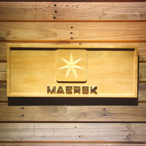 Maersk Wooden Sign - Small - SafeSpecial