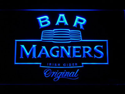 Magners Bar LED Neon Sign - Blue - SafeSpecial