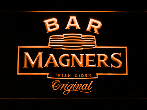 Magners Bar LED Neon Sign - Orange - SafeSpecial