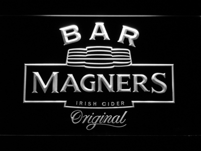 Magners Bar LED Neon Sign - White - SafeSpecial