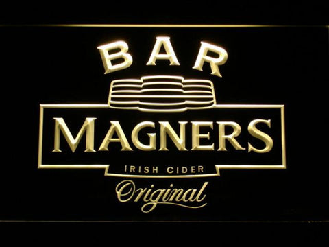 Magners Bar LED Neon Sign - Yellow - SafeSpecial