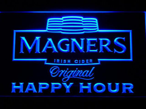 Image of Magners Happy Hour LED Neon Sign - Blue - SafeSpecial
