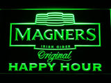 Magners Happy Hour LED Neon Sign - Green - SafeSpecial