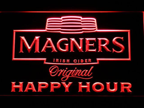 Image of Magners Happy Hour LED Neon Sign - Red - SafeSpecial
