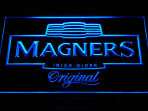 Magners Irish Cider LED Neon Sign - Blue - SafeSpecial
