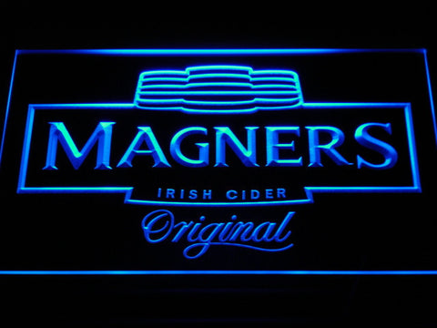 Image of Magners Irish Cider LED Neon Sign - Blue - SafeSpecial