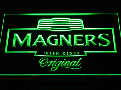 Image of Magners Irish Cider LED Neon Sign - Green - SafeSpecial