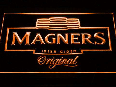 Magners Irish Cider LED Neon Sign - Orange - SafeSpecial