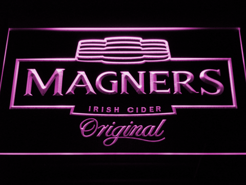 Image of Magners Irish Cider LED Neon Sign - Purple - SafeSpecial