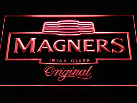 Image of Magners Irish Cider LED Neon Sign - Red - SafeSpecial