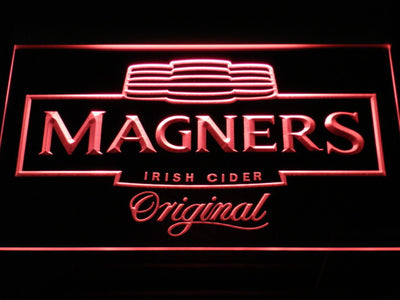 Magners Irish Cider LED Neon Sign - Red - SafeSpecial