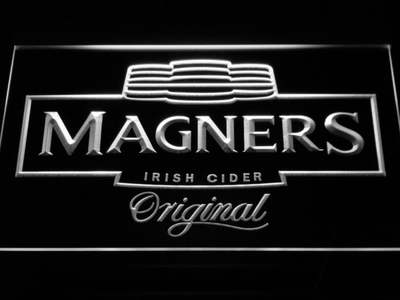 Magners Irish Cider LED Neon Sign - White - SafeSpecial