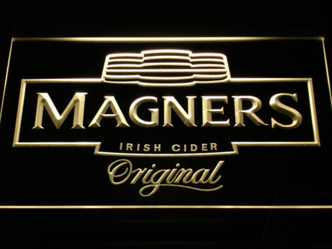 Image of Magners Irish Cider LED Neon Sign - Yellow - SafeSpecial