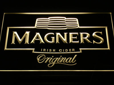 Magners Irish Cider LED Neon Sign - Yellow - SafeSpecial