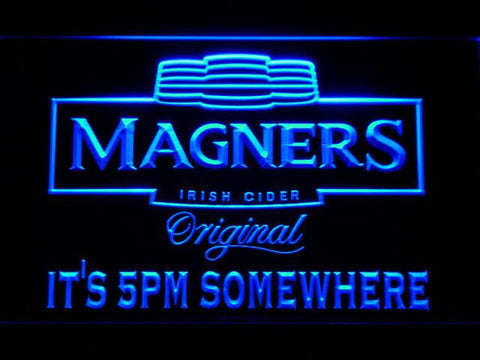 Magners It's 5pm Somewhere LED Neon Sign - Blue - SafeSpecial