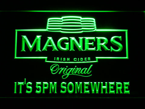 Image of Magners It's 5pm Somewhere LED Neon Sign - Green - SafeSpecial