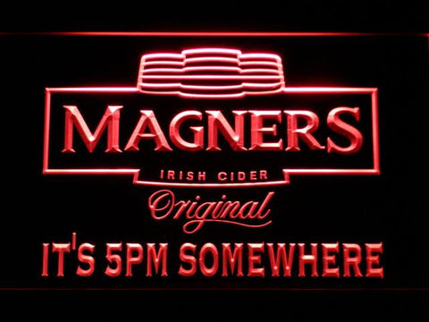 Magners It's 5pm Somewhere LED Neon Sign - Red - SafeSpecial