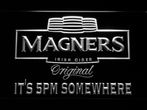Magners It's 5pm Somewhere LED Neon Sign - White - SafeSpecial