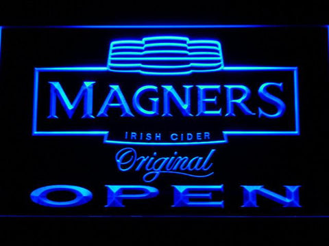 Image of Magners Open LED Neon Sign - Blue - SafeSpecial