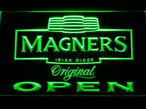 Magners Open LED Neon Sign - Green - SafeSpecial