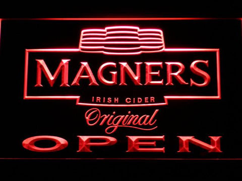 Magners Open LED Neon Sign - Red - SafeSpecial