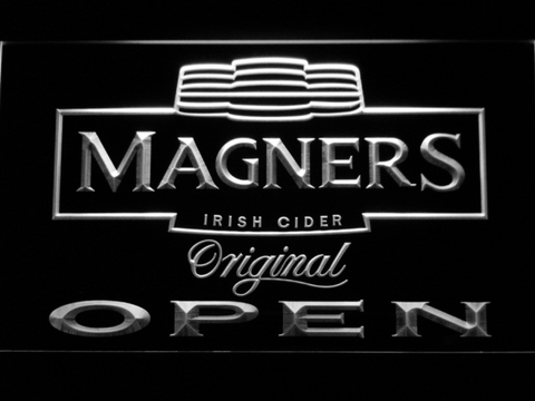 Image of Magners Open LED Neon Sign - White - SafeSpecial
