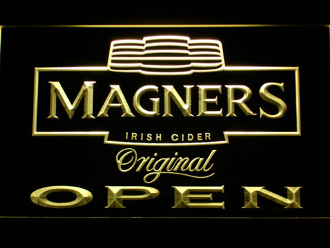 Magners Open LED Neon Sign - Yellow - SafeSpecial
